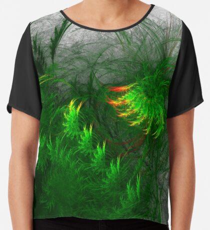 Jungle #fractal art Chiffon Top