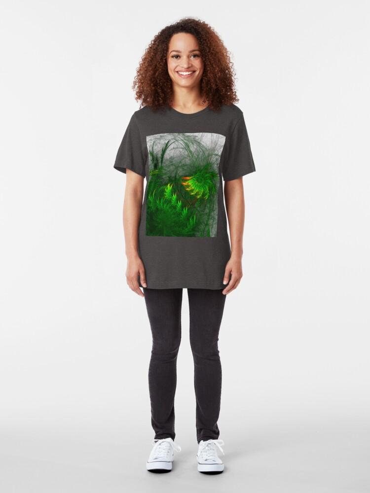 Alternate view of Jungle #fractal art Slim Fit T-Shirt