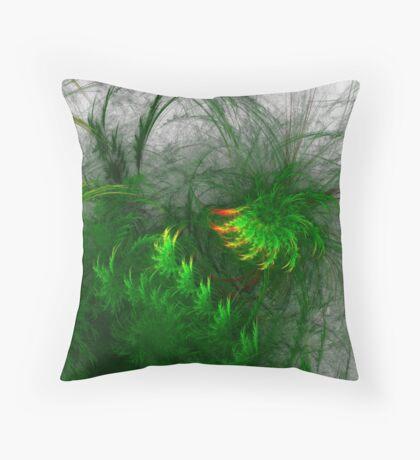 Jungle #fractal art Throw Pillow