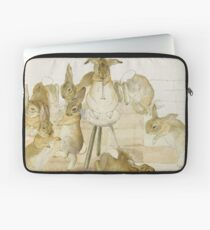 A series of Rabbits at a party by Beatrix Potter Laptop Sleeve