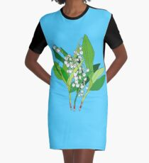 Lilly of the Valley Graphic T-Shirt Dress