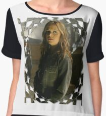 Buffy Angel Faith Eliza Dushku 1 Women's Chiffon Top