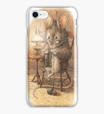 A Mouse Knitting by Beatrix Potter iPhone Case/Skin