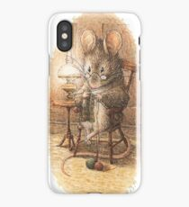 A Mouse Knitting by Beatrix Potter iPhone Case