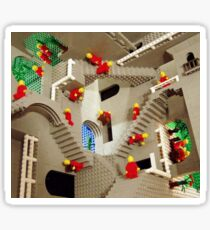 Lego stairway to Escher Sticker