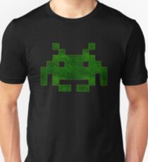 °GEEK° Space Invaders Green Denim T-Shirt