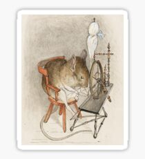 A Mouse on his Spinning Wheel by Beatrix Potter Sticker