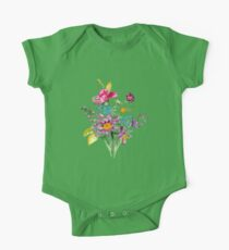 Colorful bunch of flowers  One Piece - Short Sleeve