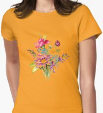 Colorful bunch of flowers  Womens Fitted T-Shirt