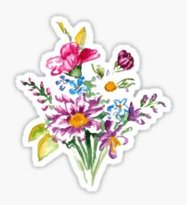 Colorful bunch of flowers  Sticker