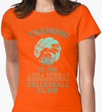 Training to join Aobajohsai Volleyball Club Womens Fitted T-Shirt