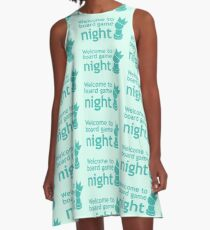 Welcome to board game night A-Line Dress