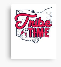 Tribe Time - Cleveland Baseball Canvas Print