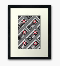 Retro Video Game Pattern Framed Print