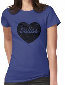 I Love Dallas - I Heart DAL (Cursive) Womens Fitted T-Shirt