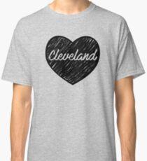 I Love Cleveland, I Heart Cleveland (Cursive) Classic T-Shirt