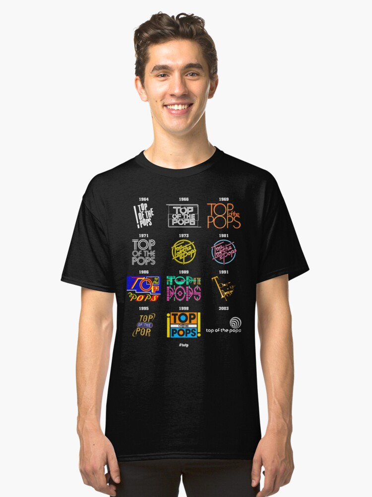 Alternate view of NDVH Top of the Pops Logos Classic T-Shirt