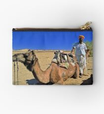 Camel and man Studio Pouch
