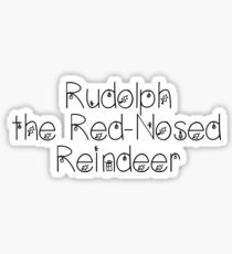 Rudolph the Red-Nosed Reindeer - Christmas Theme Sticker