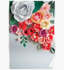 Paper flowers Poster