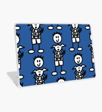 The boy with the spiky hair - mid blue Laptop Skin