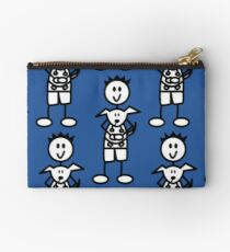 The boy with the spiky hair - mid blue Studio Pouch
