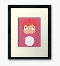 Ponyo likes you! Framed Print