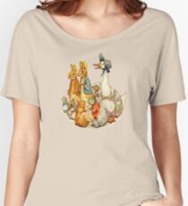 Children's Story Book Animals Relaxed Fit T-Shirt