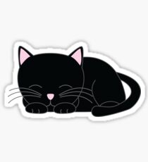Sweet Little Black Cat Sticker