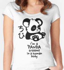 I'm a cute little panda Women's Fitted Scoop T-Shirt