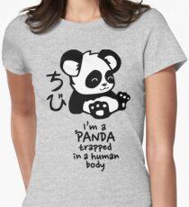 I'm a cute little panda Women's Fitted T-Shirt