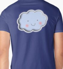 Cloud, Cute, Happy, kids, children, toddlers, child, boy, girl, baby, Men's V-Neck T-Shirt