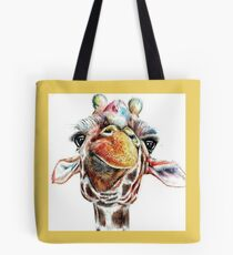 painted giraffe Tote Bag