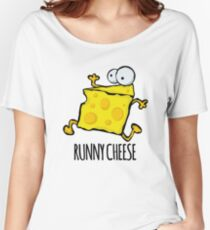 Runny Cheese Cute Funny Food Pun Women's Relaxed Fit T-Shirt