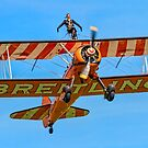 AeroSuperBatics Stearman with Wing-walker by Colin Smedley