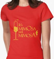 Wingardium MimOsa - Scarlet/Gold Womens Fitted T-Shirt
