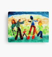 Stilt Walkers Canvas Print