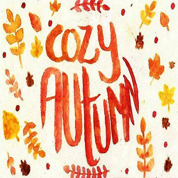 Cozy Autumn Sticker by anainwonderland