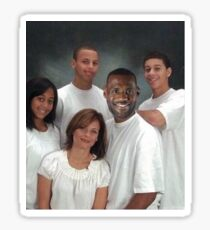 Steph Curry Family Portrait Sticker