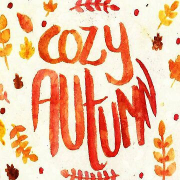 Cozy Autumn Pillow by anainwonderland