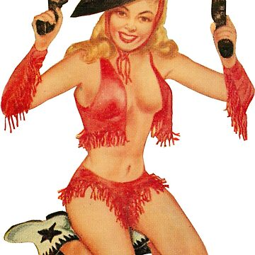 Cowgirl Shooting Guns Vintage Pin Up Girl de hilda74