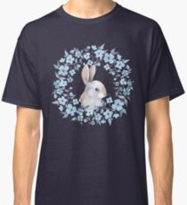 Rabbit and floral wreath Classic T-Shirt
