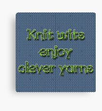 Knit wits Canvas Print
