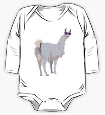 Cool Llama In Sunglasses One Piece - Long Sleeve