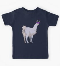 Cool Llama In Sunglasses Kids Tee