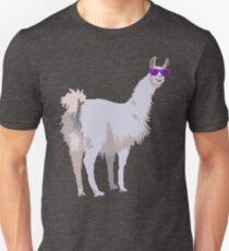 Cool Llama In Sunglasses Unisex T-Shirt