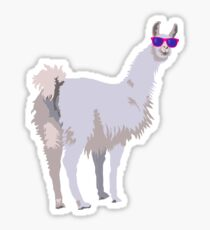 Cool Llama In Sunglasses Sticker
