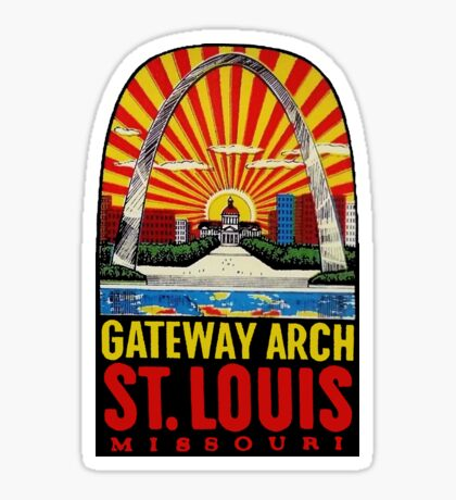 Gateway Arch St Louis Vintage Travel Decal Sticker