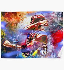 Michael Jordan Painted Poster