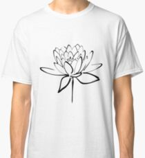 Lotus Flower Calligraphy (Black) Classic T-Shirt